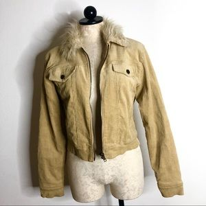 Vintage Corduroy fur collar jacket